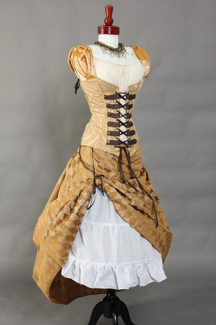 Skirt over skirt. steampunk