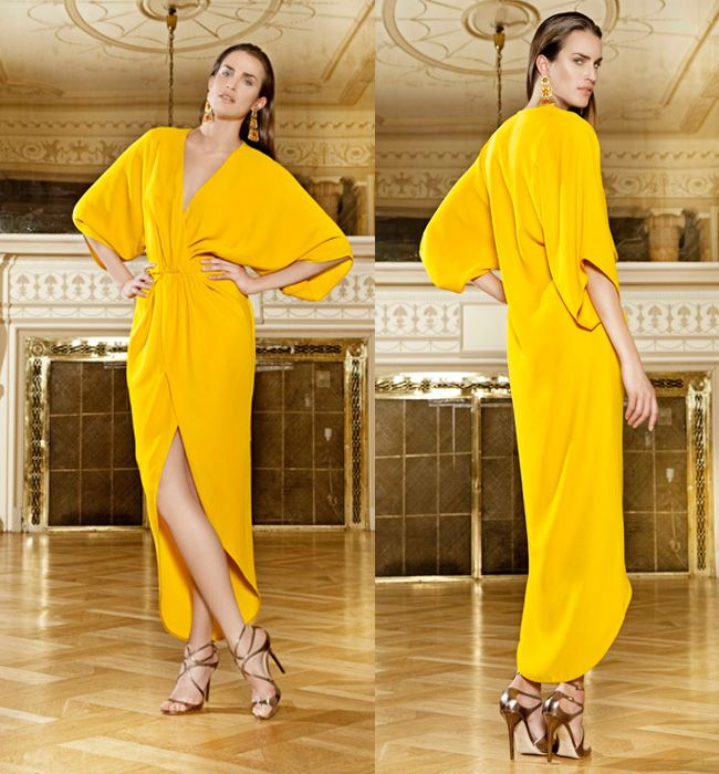 Dolores Promesas Heaven SS-14: vestido amarillo.