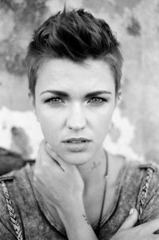 Cute girl with pixie cut :)