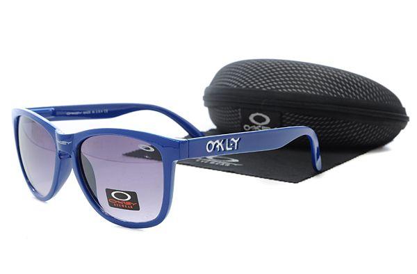 $10.99 New Style Oakley Frogskins Sunglasses Blue Frame Purple Lens Low Price Dumping www.oakleysunglassescheapdeals.com