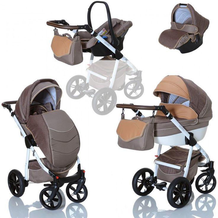 LCP Kids LUCATO Ecco 3in1 Kombi Kinderwagen Set Wanne Buggy Babyschale 0-13 kgsparen25.info , sparen25.com