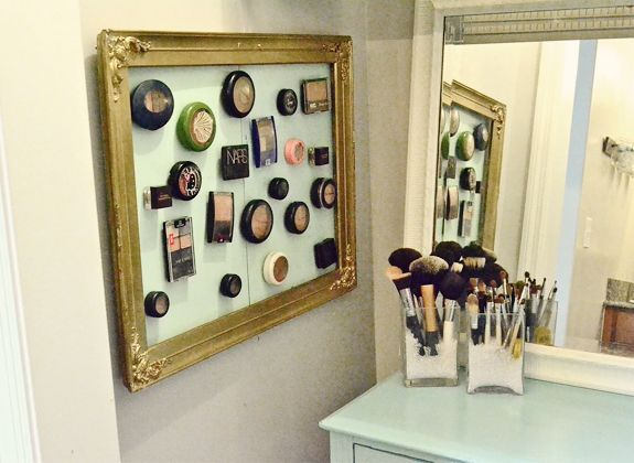 Organization idea!: Ideas, Craft, Organization, Makeup Storage, Magnetic Makeup Board, Bathroom, Diy