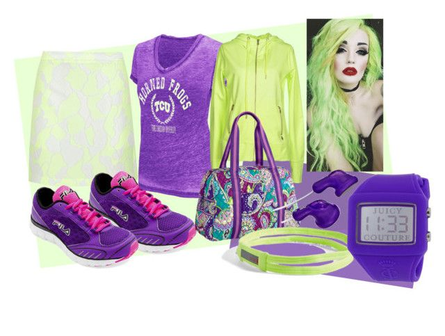 Green and purple by slytheriner on Polyvore featuring Colosseum, MET, 3.1 Phillip Lim, Fila, Juicy Couture, Zella and Vera Bradley