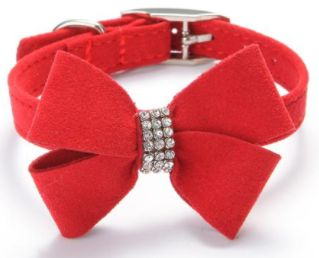 Shop24seven365! Gorgeous bow with gemstone pet collar. Why not spoil your precious pet? Several colours and sizes. To purchase visit www.shop24seven365.com.au