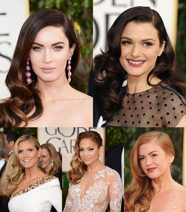 Red Carpet hair trend - Side sweep to the right - Golden Globes 2013