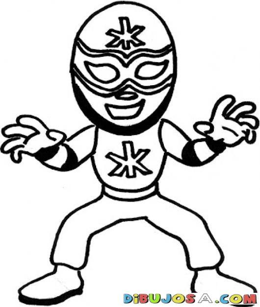 Dibujo De El Santo Para Pintar Y Colorear Al Mejor Luchador De La ...