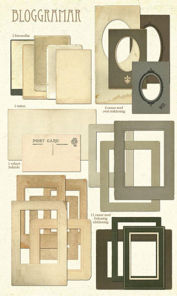 Vintage frames no2 by evajoh on Etsy, $24.00