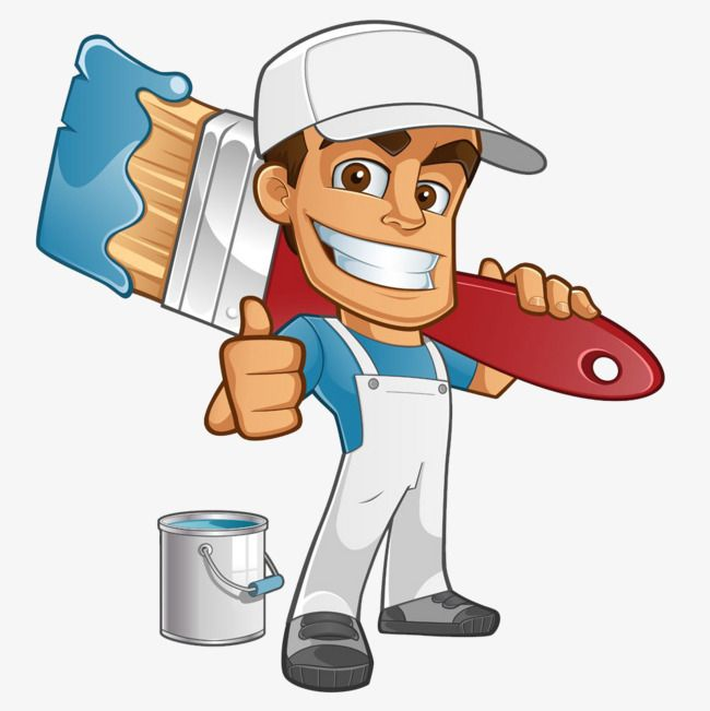cartoon painter hand tool cartoon worker paint bucket png image pintores cartoon cartoon desenhos de profissoes cartoon worker paint bucket png image