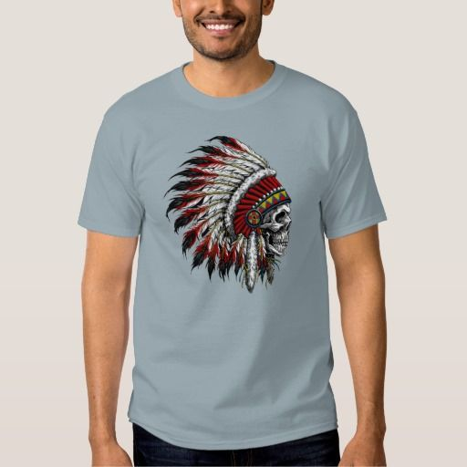 Native American Skull Chief T-shirt
