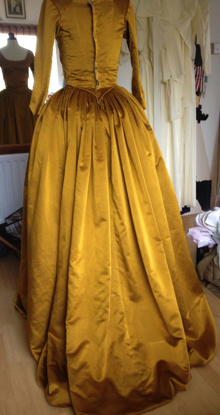 Demelza's ball gown, back. Courtesy of Marianne Agertoft/Mammoth Screen. | Poldark, as seen on Masterpiece PBS