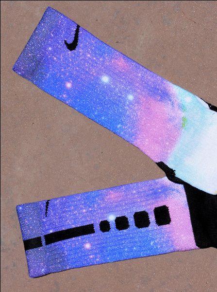custom galaxy nike elite socks!!!!! COOL!!!!!