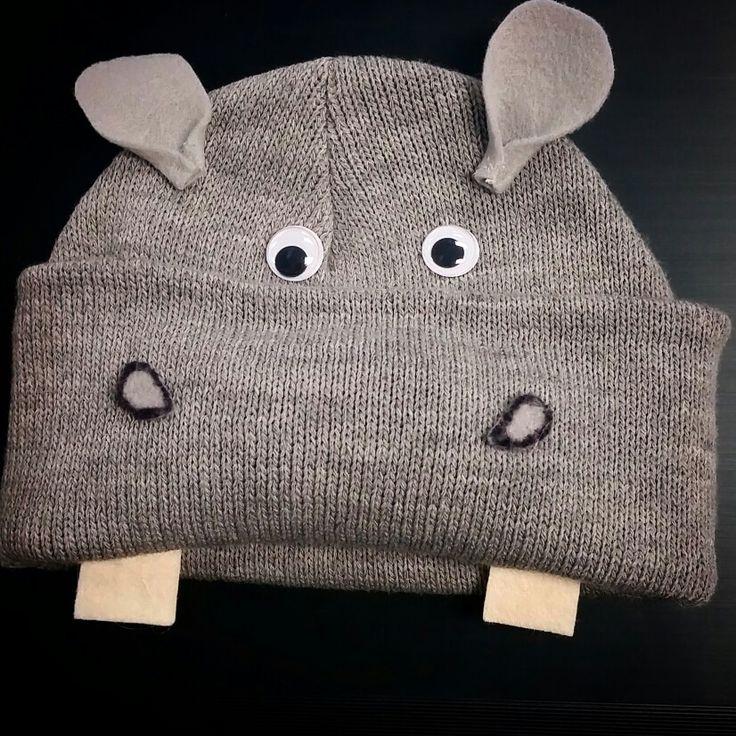 DIY Hippopotamus beanies for the Christmas program: I want a hippopotamus for Christmas!