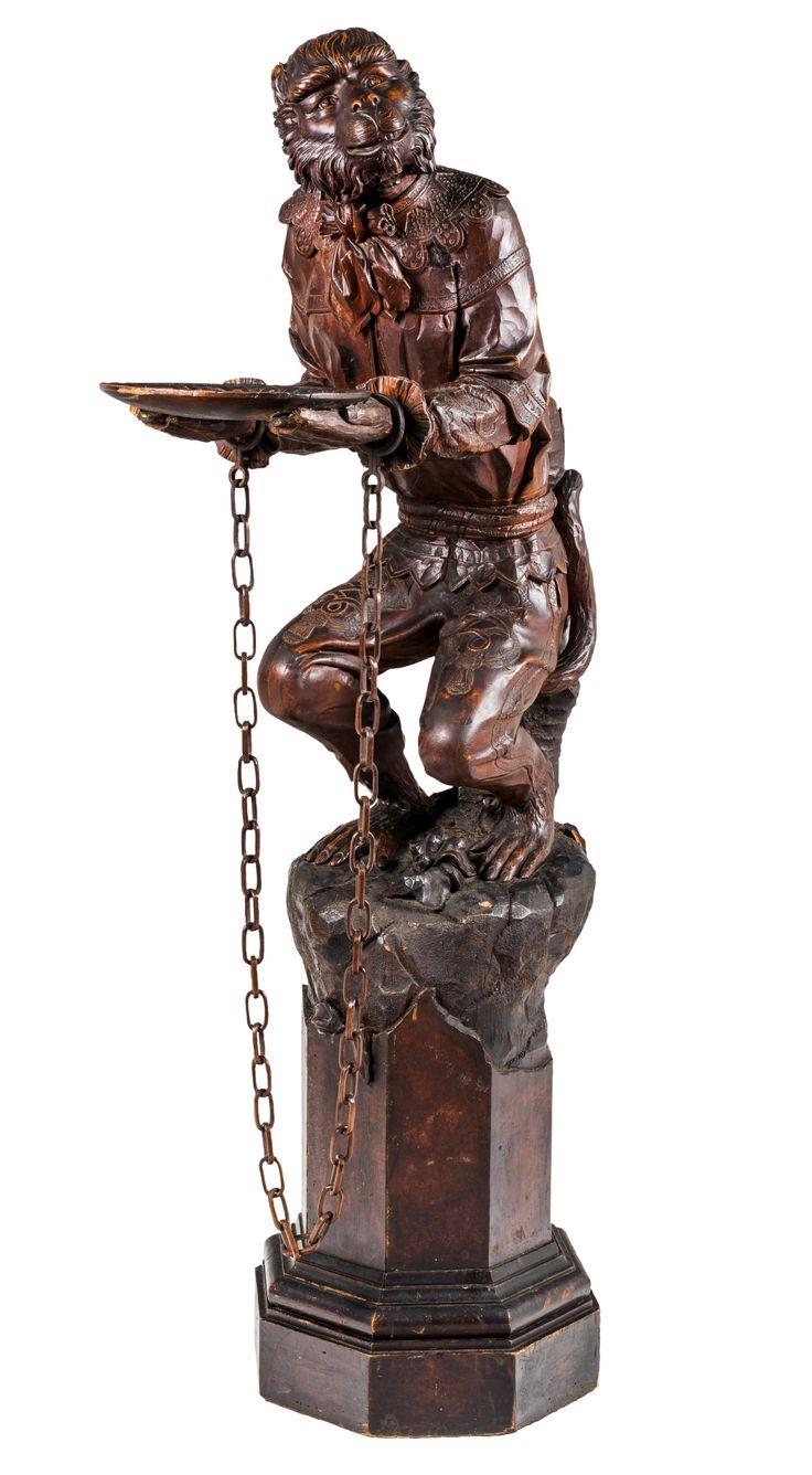 Monkeys in art history | Sculpture of a monkey, In Venetian clothing with...