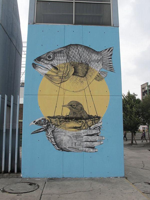 Street art | Mural (Mexico City, Mexico) by La Pandilla [aka Alexis Diaz and Juan Fernandez]