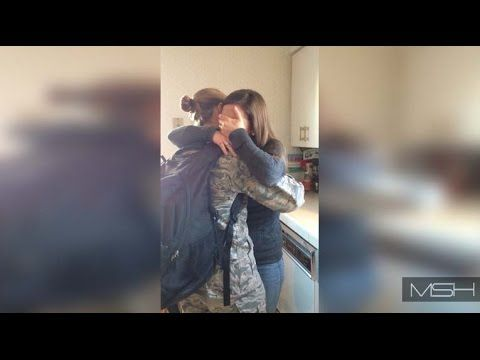 Surprise military homecoming, sisters - http://www.militarysurprise.com/surprise-military-homecoming-sisters/