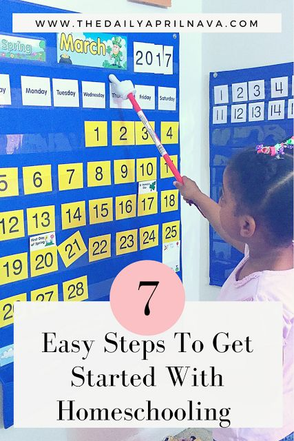 7 Easy Steps To Get Started With Homeschooling!