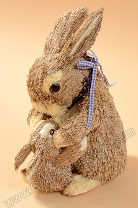 10 sisal lavender bunny family natural gandgwebstore for Sisal decoration