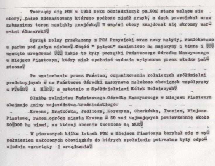 Z kroniki POM 5 (kopia maszynopisu)