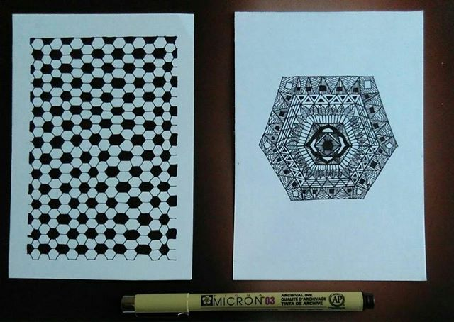 #sketchagram #artistuniversity #devianart #artshelp #doodling #zentangle #artshare #artacademy #dailysketch #sketches #hexagon #shapes #soothing #creativityfound #funpatterns #relaxing #artscrowd #artsy #legendary_art