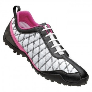 Womens Footjoy Summer Golf Cleats White Leather - ONLY $51.99