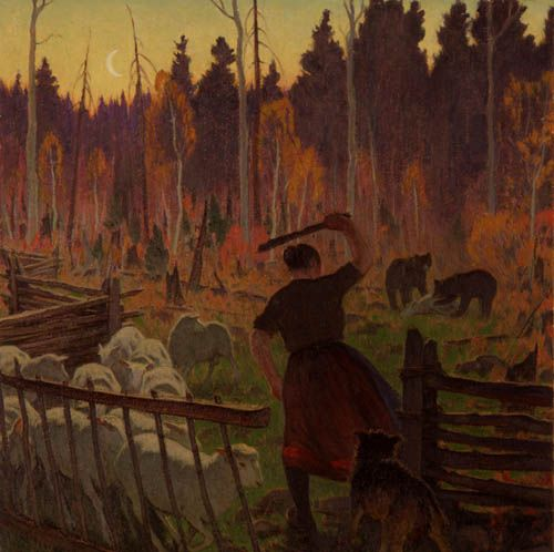 Clarence Gagnon - Protecting the Flock