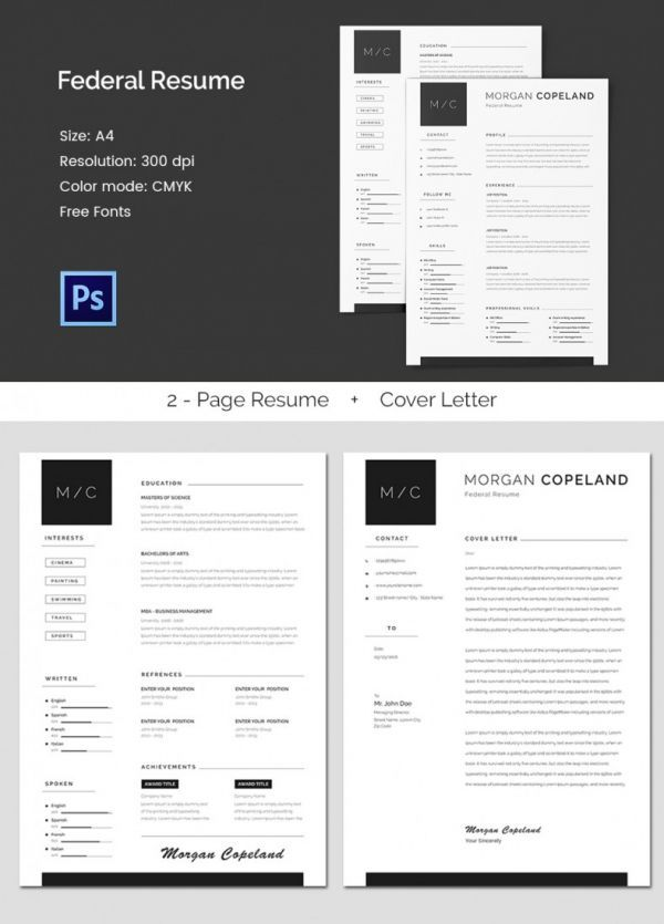Federal A4 Resume Template Mac Resume Template Great For More