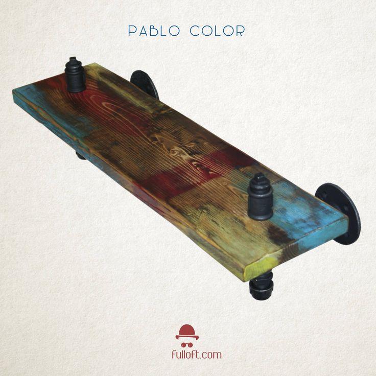 Fullloft shelf – Pablo Coulor - Steampunk Shelf - Industrial Shelves - Furniture Industrial - Home decor by Fulloft on Etsy