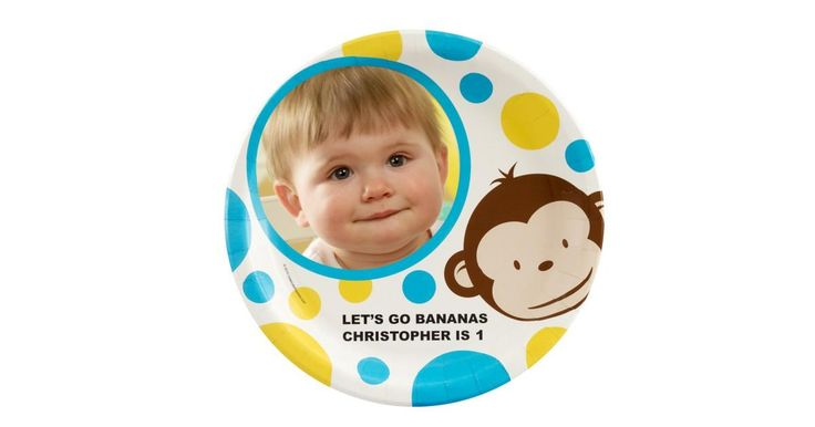 I found this great Birthday Party idea on BirthdayExpress.com. Mod Monkey Personalized Dinner Plates, Birthday Express helps create memories that last a lifetime - click here to start the fun!