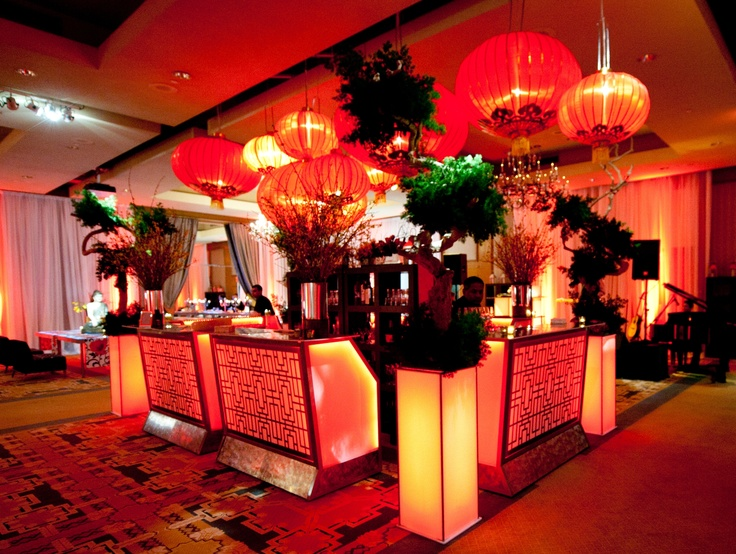 An Asian Themed Bar Designed By Richard Carbotti For CORT Event Furnishings
