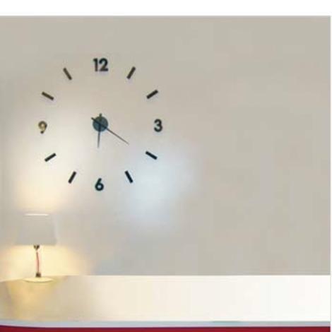 STICK CLOCK NERO