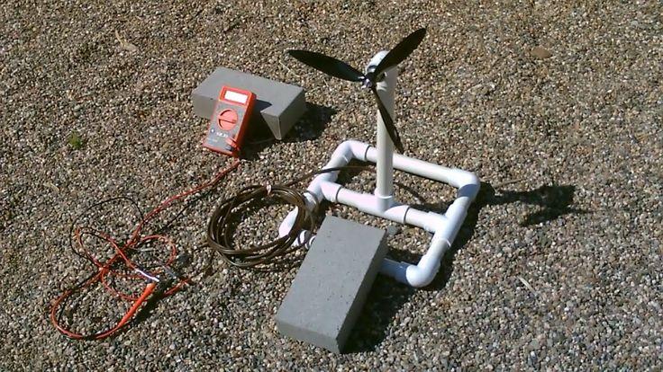 Homemade Wind Turbine Generator! - Wind Power Generator! - simple DIY (r...