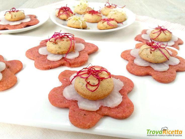 Finger food vegetariani su cialda light  #ricette #food #recipes