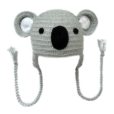 Touca de crochê coala Hat crochet animal