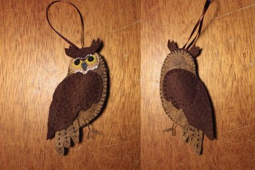 Great Horned Owl diy ornament
