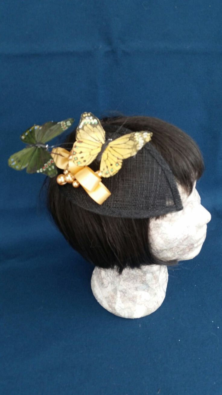 Spring time sinamay hair comb by Noisy Swan