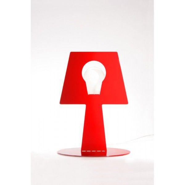 Lampa stojąca Bendino - czerwona.