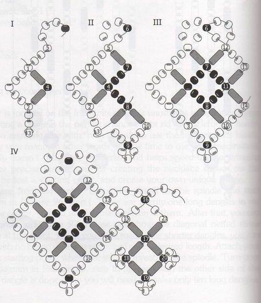 бисероплетение схемы колье из