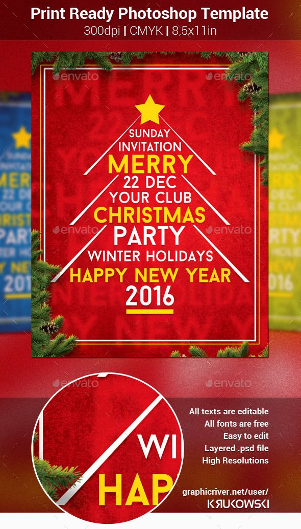 Best Christmas Flyer Template Images On   Christmas