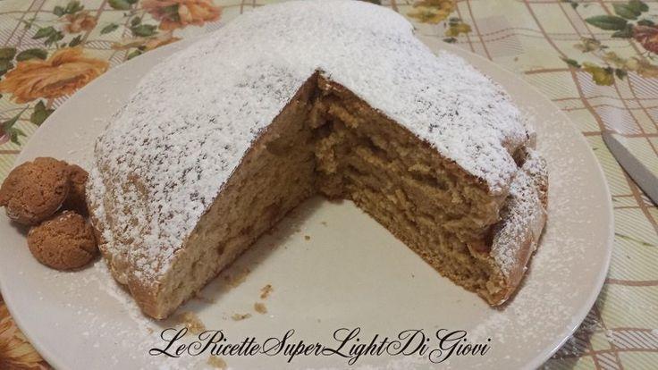 Torta integrale light allo yogurt e amaretti (solo 108 calorie a fetta!) | Le Ricette Super Light di Giovi