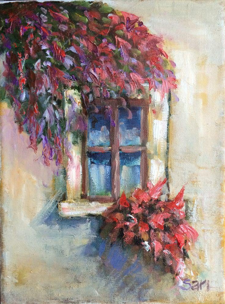 Ablak / Window 1.1  18x24 cm oil omn canvas