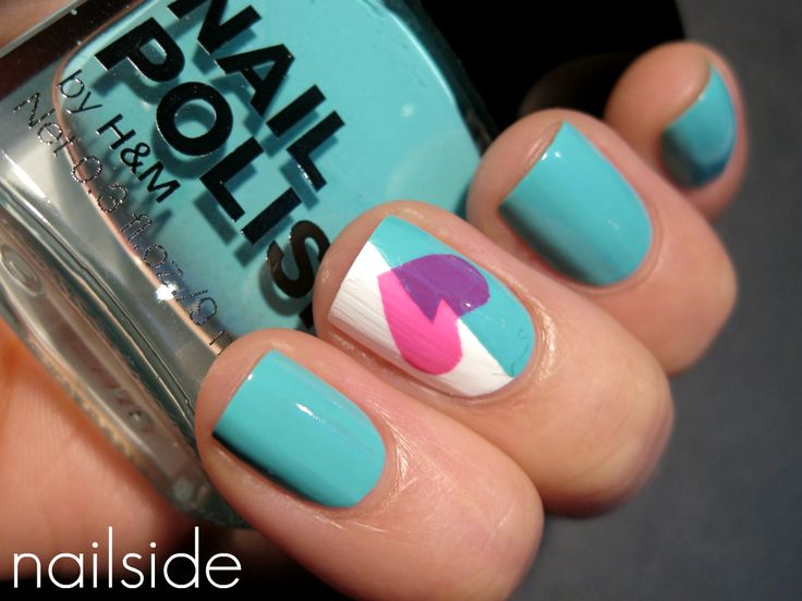 Nailside: A Broken Heart: Heart Nails, Nail Polish, Nailart, Nail Designs, Nail Ideas, Broken Heart, Nail Art