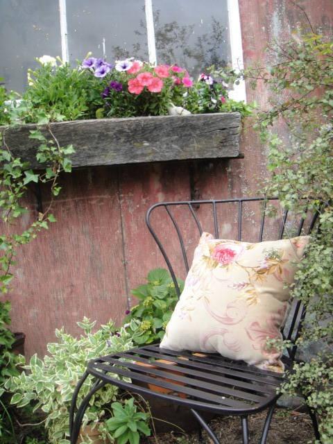 Outside the garden cottage at Kentucky Roses Display Garden, Nursery & Cafe