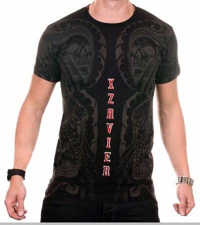 Xzavier Body Tattoo Men's T-Shirt (Black)