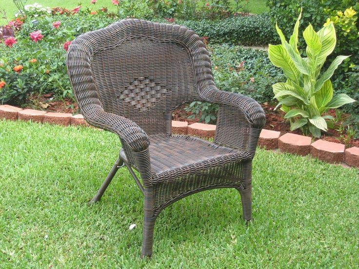 Camelback Resin Wicker Patio Chairs (Set of 2)