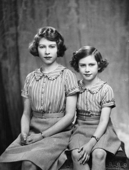 Prinses Elizabeth en prinses Margaret. Groot-Britannië