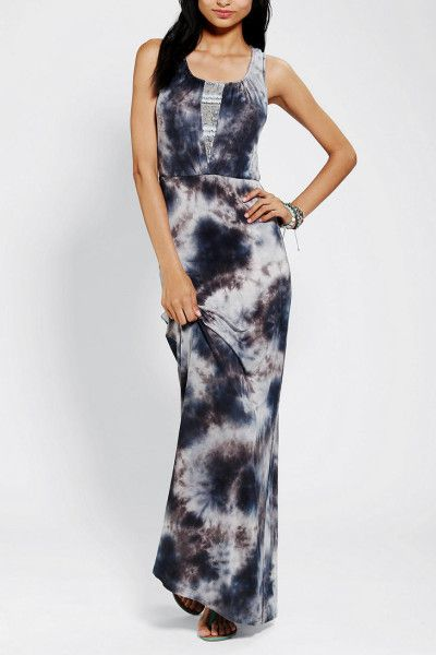 Urban Outfitters Multicolor Lace Inset Tie Dye Maxi Dress