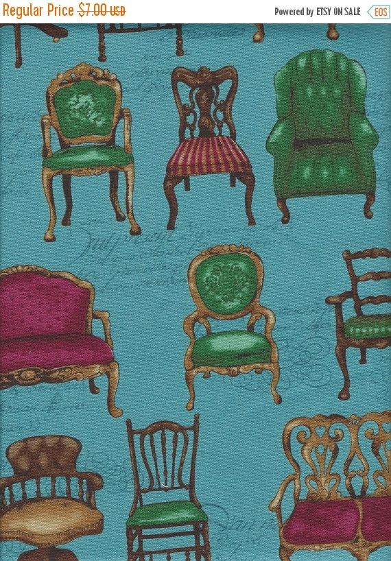 Settees and Chairs from QH Textiles. Designed by Cosmo Textiels. Heavyweight cotton. Chairs are appx. 3.5 inches in height   Yardage is available. Please convo for additional yardage.  Shipping Categories (Please see Shop Announcements for pricing)  US: up to 2 yds- First Class Mail/ 2-9 yds- Flat Rate Envelope/ 9-18 yds -Medium Flat Rate Box-* Canada: Up to 4 yds- First Class Mail/ 4-9yds-Flat Rate Envelope / 9-18 yds Medium Flat Rate Box* Everywhere Else: Up to 3.5 yds ...
