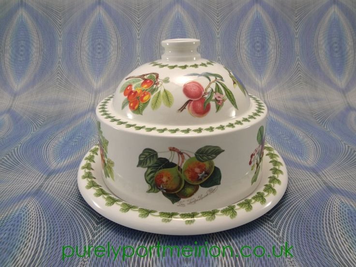 Portmeirion Pomona Vintage Covered Cheese Dome Rare