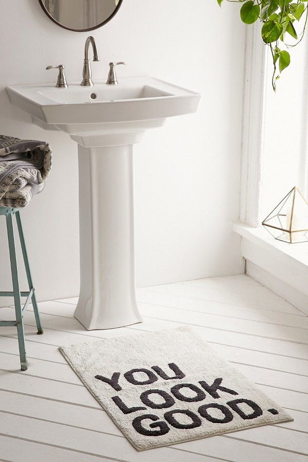 Motivational Rug In Bathroom