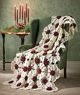 free pattern called Snowflake Rose afghan by Carol Alexander. From a Magazine called Annie's Favorite Crochet December 2005. on ravelry http://www.ravelry.com/patterns/library/snowflake-rose